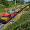 60054 passes Baulking on 6B33 Theale - Robeston