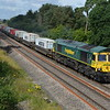 66589 passes Shrivenham on 4L31 Bristol - Felixstowe
