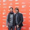 "José María Yazpik and Diego Luna pose for a photo before the world premier of ""Mr. Pig"" at Sundance (photo courtesy Saul Santos)"