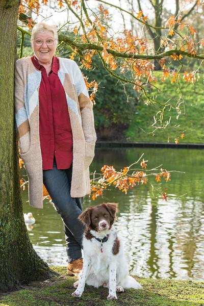 Tineke en hond Twister