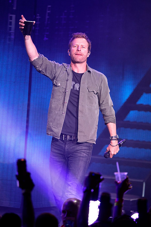 . Dierks Bentley live at DTE Music Theatre on 5-22-2016. Photo credit: Ken Settle