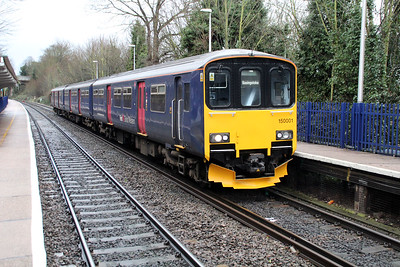 150001 at Reading West with a Basingstoke service 01/02/13.