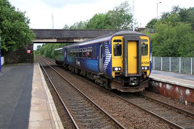 156508 at Cleland on an Edinburgh service 04/07/12.