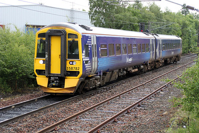 158782 at Whifflett Station 02/07/12.