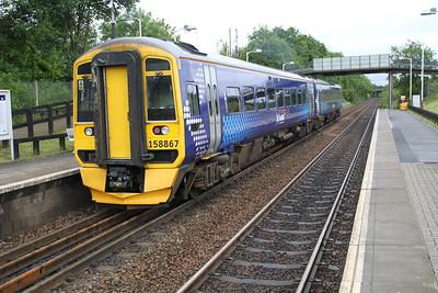 158867 at Greenfaulds Station 03/07/12.