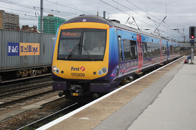 170309 on a Manchester-Cleethorpes working at Doncaster 19/09/11