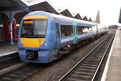 170201 arrives on a Norwich-Peterborough service 10/03/12