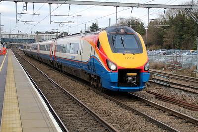 Meridian 222015 passes Harpenden 21/12/12.