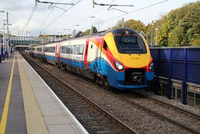 Meridian 222009 passes Harpenden 18/10/12.