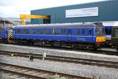 Chiltern Railways Class 121 Bubble Car 55020 at Aylesbury Depot 14/08/11.
