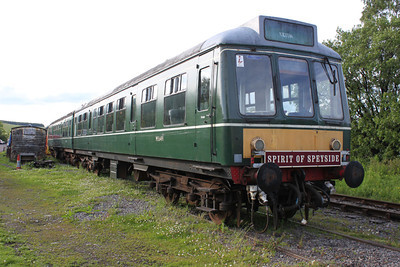 DMU M56491  at the Keith and Dufftown Railway 25/06/11.
