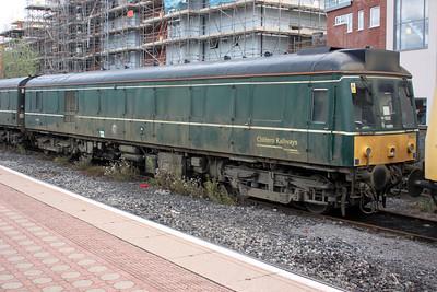 Chiltern Railways Sandite DMU 960301/977988 at Aylesbury Station Sidings 14/08/11.