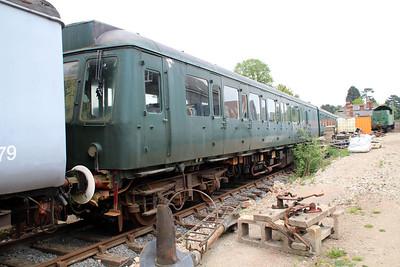 Ex North London Line DMU M51342_M50384 in Ongar Station Yard.