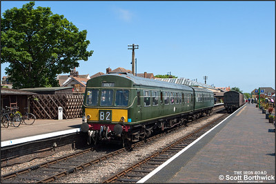 51192/56352 await their next duty at Sheringham after arriving with 2C13 1333 Holt-Sheringham on 11/06/2015.