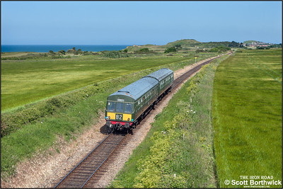 51192/56352 accelerate away from Dead Man's Hill whilst working 2C17 1503 Holt-Sheringham on 11/06/2015. (Photo taken with camera mounted on a pole & remotely triggered)