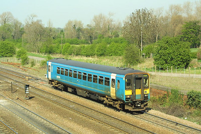 153351 is pictured passing Milford Jnct on 17/04/2003 with a Sheffield bound service.
