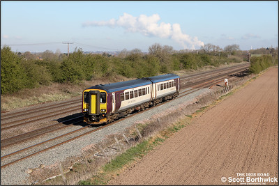156406 passes Cossington whilst forming 2L54 0653 Sleaford-Leicester on 15/04/2021.