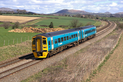 158828 passes Wistanstow on 14/04/2006 with 1V55 0815 Holyhead-Cardiff Central.