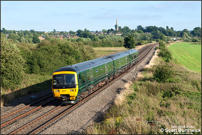 166217 forms 2L50 1749 Oxford-Banbury passing Kings Sutton on 12/08/2016.