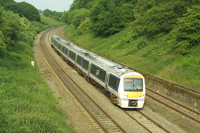 168106 climbs Hatton bank with a London Marylebone-Birmingham Snow Hill service on 16/06/2003.