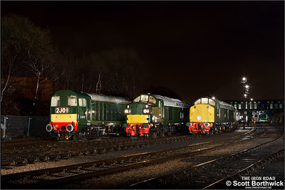 D335, D213 'Andania' & D8132 stand in the yard at Barrow Hill TMD on 05/02/2011.