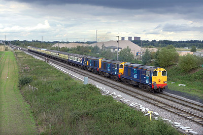 20314+20309+20306 pass Catholme whilst working 1Z82 1337 Kettering-Preston 'The Rutland Renegade' on 26/08/2006.
