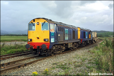 20312+20316 are pictured with a single flask at Kirkby in Furness on 11/09/2004 with 6K73 0920 SO Sellafield-Crewe.