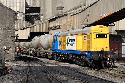 The next eight photographs illustrate 20168 at work loading a train of cement PCA's deep in the cement works at Hope on 16/09/2005.