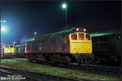 25249 awaits it's next duty at Saltley LIP (SY) on 12/11/1986.