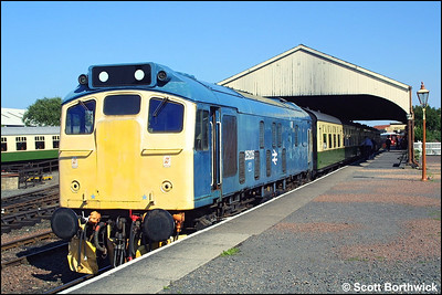 In a rather weather beaten condition, 25235 stands at Bo'ness prior to working the 1615 service to Birkhill on 13/07/2003.