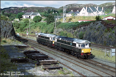 26007 & 26001 are seen running round their train after arrival at Kyle of Lochalsh and setting back onto the stock to form the return service to Inverness on 25/08/1993.