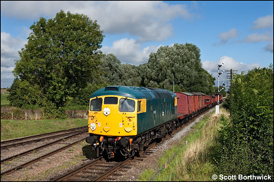 26007 approaches Quorn & Woodhouse with a mixed freight on 07/09/2010.