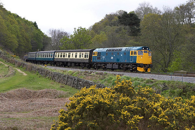 27001 passes Darnholme with the 1025 Goathland-Grosmont shuttle on 14/05/2005.