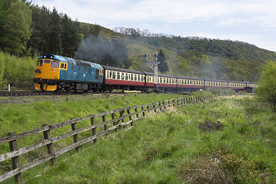 27001 is seen departing Levisham on 15/05/2005 with the 1315 Pickering-Grosmont service on 15/05/2005.