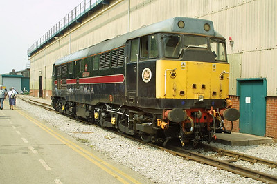 31459 exhibited at Crewe Works Open Weekend on 31/05/2003.