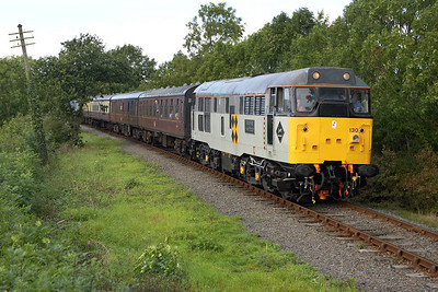 31130 is pictured near Carlton on 25/09/2005 whilst working the 1600 Shackerstone-Shenton service. 33019 was on the rear of the train out of view.