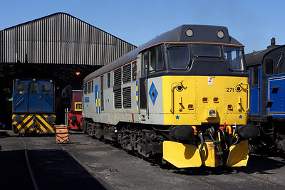 The Nene Valley Railways diagrammed diesel locomotive on 17/07/2005 was 31271 pictured here awaiting its first duty of the day on Wansford Shed.