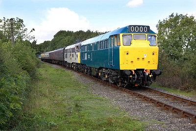 31101+31130 work the 1300 Shackerstone-Shenton service near Carlton on 29/09/2005.