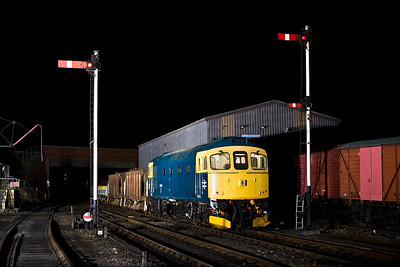 33053 stands at Wansford with a short permanent way train on 23/02/2008.