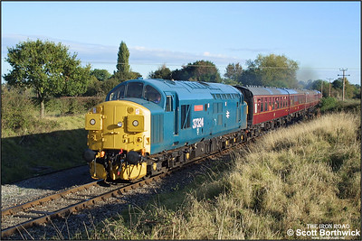 37324 'Clydebridge' passes Hailes Abbey whilst in charge of the 1003 Toddington-Gotherington on 19/10/2002.