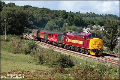 37419 powers away from Ystrad Mynach with 2F38 1515 Rhymney-Cardiff Central  on 20/08/2005.