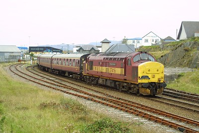 37416 awaits departure time at Mallaig on 22/09/2001 with 1Z38 1450 Mallaig-Edinburgh Waverley SRPS Charter.