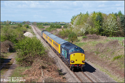37059 & 37069 'top and tail' 1Q13 0935 Tyseley LMD-Tyseley LMD via Worcester, Oxford & Worcester at Fladbury on 12/04/2011.