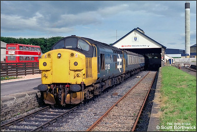 37035 awaits departure at Wick with 2H64 1805 Wick-Inverness on 17/07/1985.