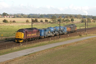 37503 leads 37516 whilst working 6T83 1008 York-Doncaster TMD via Malton past Colton Jnct on 09/10/2004.