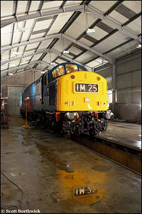 Time for reflection. 40145 rests at Barrow Hill on 23/02/2006.