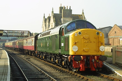 D306 (40106) pictured at Wansford on the Nene Valley Railway with a service to Peterborough Town on 13/10/2001.