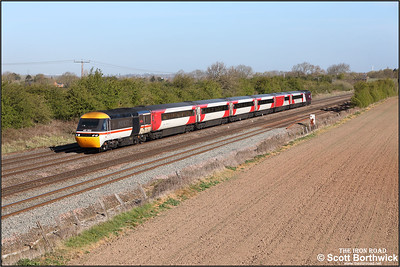 43102/43274 pass Cossington whilst forming 1B23 0634 Leeds-London St Pancras International on 22/04/2021.