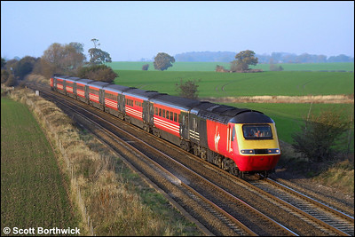 An unidentified Virgin HST passes Portway on 19/11/2001 with a southbound Cross Country service.