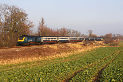 43058 trails 43073 whilst forming 1B37 1358 Nottingham-London St Pancras at Rotherby on 28/01/2006.